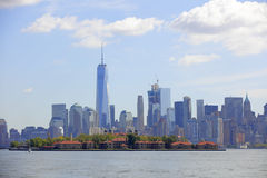 Photo of New York and Ellis Island Royalty Free Stock Photography