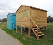 Newly constructed beach hut Royalty Free Stock Photo