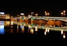 Photo Night Bridge. In St. Petersburg Royalty Free Stock Images