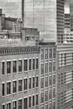 Photo noire et blanche d'architecture de New York City Images stock
