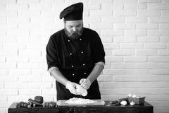 Photo noire et blanche de cuisinier Photo libre de droits