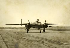 Photo nostalgique d'avion à réaction Photographie stock