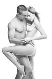 Photo of nude sexy couple. Royalty Free Stock Photo