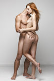Photo of nude sexy couple Stock Images