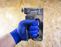 Free Photo Of A Worker Hand With Stapler. Royalty Free Stock Photography - 88464367