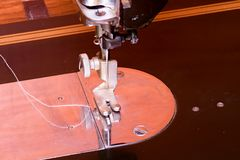 Free Photo Of An Old Vintage Hand Sewing Machine. Selective Focus. Macro Image. Stock Photography - 87319992