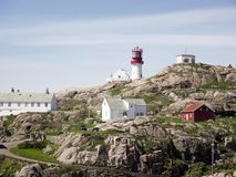 Free Photo Of Lindesnes Beacon In Summer, South Norway. Aerial Shot. Rocky Sea Coast And Blue Sky. Stock Photography - 118558862