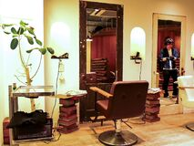 Free Photo Of The Interior Of A Very Well Designed And Stylish Japanese Beauty Hair Salon Located In Shibuya Area In Tokyo, Japan Stock Photo - 175630860