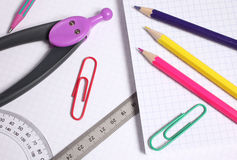 Photo of office and student gear Stock Image