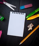 Photo of office and student gear royalty free stock photos