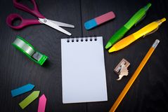Photo of office and student gear Royalty Free Stock Images