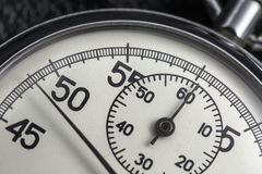 photo of old analogue stopwatch. Stock Images