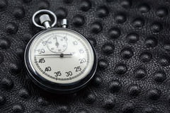 Photo of old analogue stopwatch. Stock Image