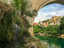 The Old Bridge of Mostar, Bosnia Herzegovina stock photography