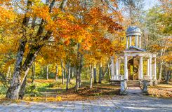 Autumnal motif in old park, Europe royalty free stock photography