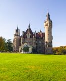 Moszna castle. Photo of old castle in a sunny day, Castle Moszna, Poland, Currently Neurosis Therapy Center Royalty Free Stock Images