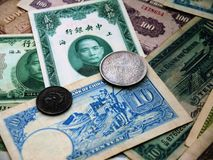 Chinese money of the 1930s Royalty Free Stock Photos