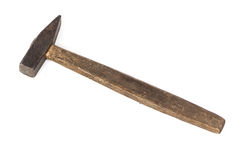 Photo of old hammer. On white background Stock Images