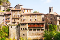 Photo of old picturesque medieval Catalan village Royalty Free Stock Image