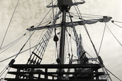 Photo of old ship Stock Images