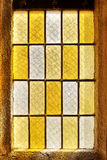Photo of an old stained glass window.  Royalty Free Stock Images