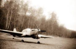 Photo Old-styled du modèle IL-2 par radio Photo libre de droits