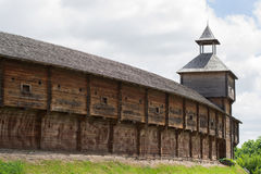 Photo of old wooden Cossack fortress, Baturin, Ukraine Royalty Free Stock Photo