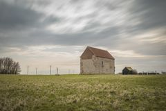 St Peters chapel in Bradwell Essex with a moody sky royalty free stock photos