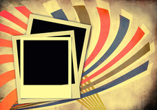 Photo On Vintage Background Royalty Free Stock Images