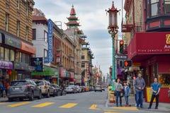 Chinatown Street in San Francisco royalty free stock photos