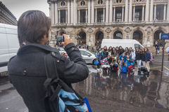 Photo opportunity at L'opera, Paris, France Stock Photography