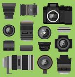 Photo optic lenses Stock Images