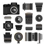 Photo optic lenses Royalty Free Stock Photos