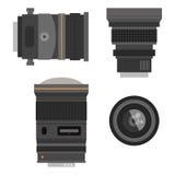 Photo optic lenses Stock Photography
