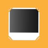 Photo on an orange background. Illustration photo on an orange background Stock Image