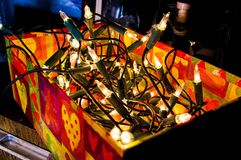 Photo of Orange and Green String Lights Royalty Free Stock Photo