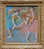 Photo of the original painting `Dancers at Rest` by Edgar Degas. One of the treasures of MoMA, New York stock image