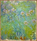 Photo of the original painting `Water Lilies` by Claude Monet royalty free stock photo