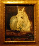 Photo of the original painting `White horse, Gazelle` by Henry de Toulouse-Lautrec. This is a treasure of Albertina Museum in Vienna, Austria Stock Photo