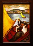 Photo of the original painting `Yachting on Lake Tegern` by August Macke stock photo