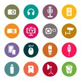 Photo and other technical devices icons set.  Stock Image