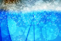 abstract bokeh blue Royalty Free Stock Images