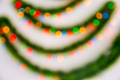 Christmas abstraction-color out of focus stock photo