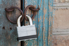 Photo of the padlock Stock Image