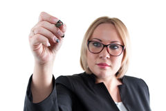 Photo of painting business woman Stock Photography