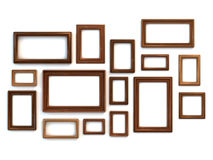 Photo or painting frames set vector illustration