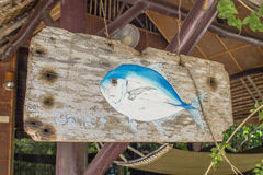 Photo painting of Trevally fish Stock Image