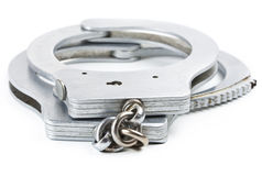 Photo of a pair of handcuffs Royalty Free Stock Photos