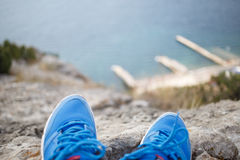 Photo pair shoes, background blur Stock Images
