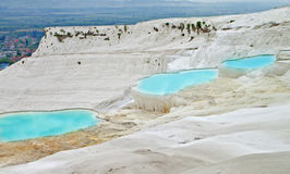 Photo of Pamukkale Travertine. And Holiday in Turkey Royalty Free Stock Images